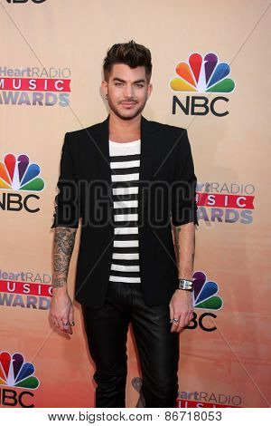 LOS ANGELES - MAR 29:  Adam Lambert at the 2015 iHeartRadio Music Awards at the Shrine Auditorium on March 29, 2015 in Los Angeles, CA