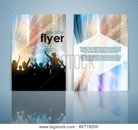 Double sided party crowd flyer template
