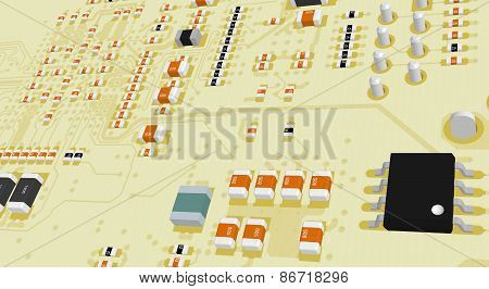 Printed Circuit Board Yellow