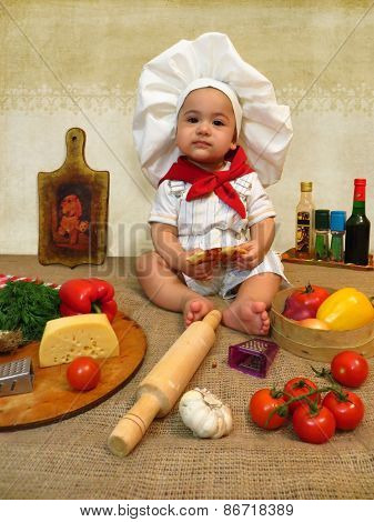 Baby Boy As A Cook