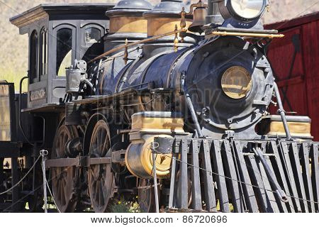 A Steam Locomotive At Old Tucson, Tucson, Arizona