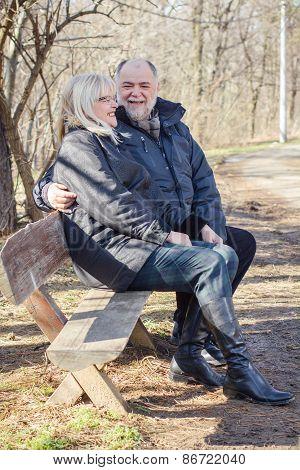 Happy Elderly Senior Couple Relaxing