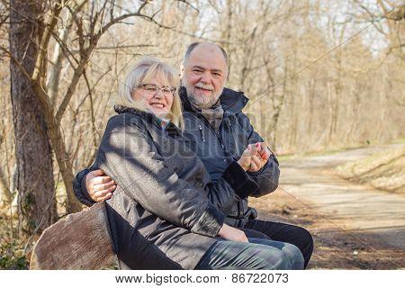 Happy Elderly Senior Romantic Couple Relaxing