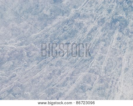 Translucent Blue Ice Surface