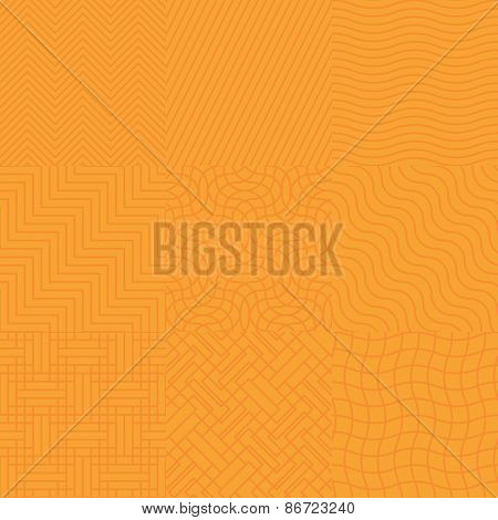 Seamless abstract orange pattern