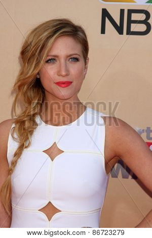 LOS ANGELES - MAR 29:  Brittany Snow at the 2015 iHeartRadio Music Awards at the Shrine Auditorium on March 29, 2015 in Los Angeles, CA