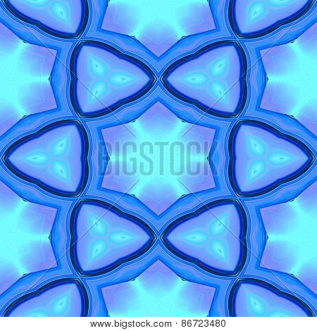 Abstract blue geometric texture or background made seamless