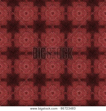 Abstract marsala checky knitted texture made seamless