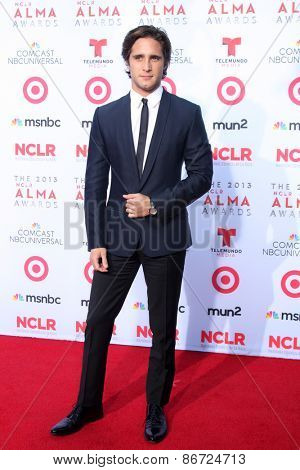 LOS ANGELES - SEP 27:  Diego Boneta at the 2013 ALMA Awards - Arrivals at Pasadena Civic Auditorium on September 27, 2013 in Pasadena, CA