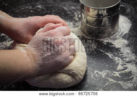 Yeast Dough On The Table