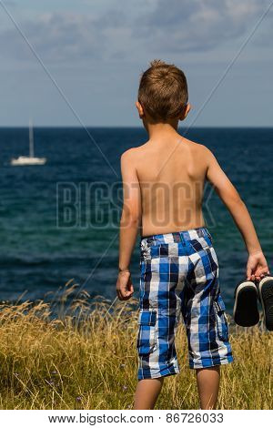 Boy With Bathing Shoes