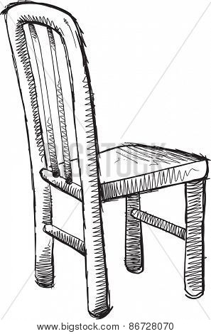 Doodle Sketch Chair Vector illustration Art