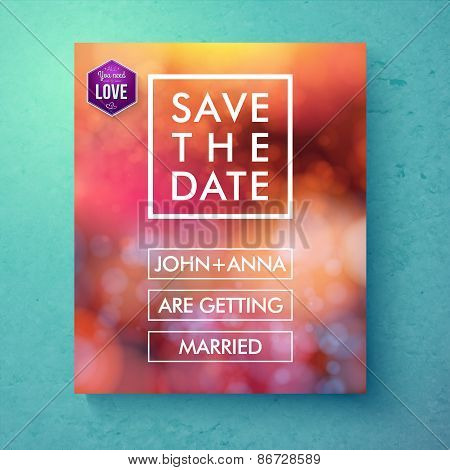 Bold simple Save The Date template design