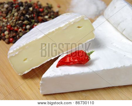 Cheese on a table