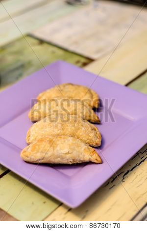 Empanadas Meal, Stuffed With Meat. Traditional Argentinean Cuisine.