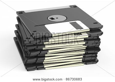 Black Floppy Disks