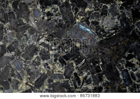 Black Granite Stone Background