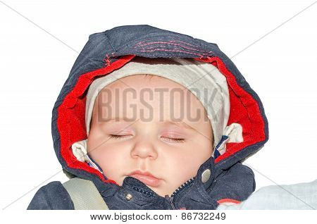 Baby Sleeping, Isolated