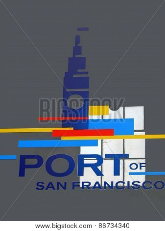 SAN FRANCISCO, CA - NOVEMBER 18: Port Authority of San Francisco California Logo 2012