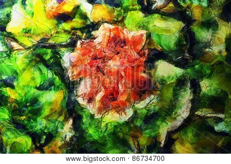 Bright spring blooms art