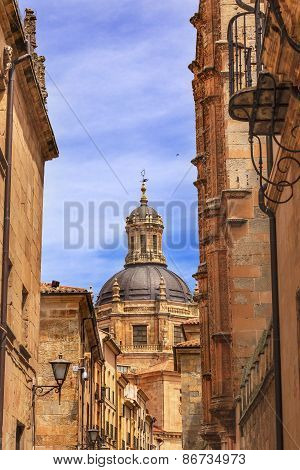 Stone Dome New Salamanca Cathedral Street Spain