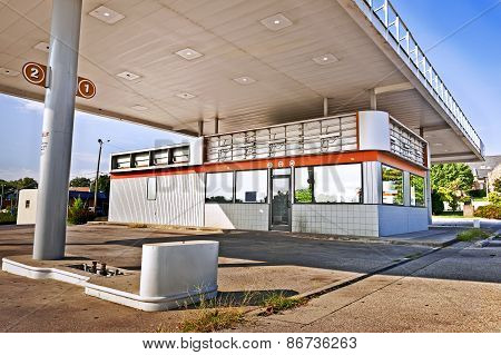 Gas Station Closed Unidentifiable