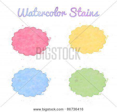 Beautiful watercolor design elements