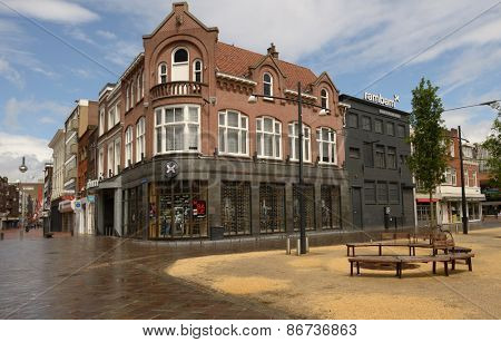 EINDHOVEN, NETHERLANDS - JUNE 23, 2013: Jeans store Rambam on the Catharinaplein. Since 1968 the shop offers the denim clothes of the leading brands