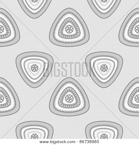 Abstract Seamless pattern with triangle in grey silver