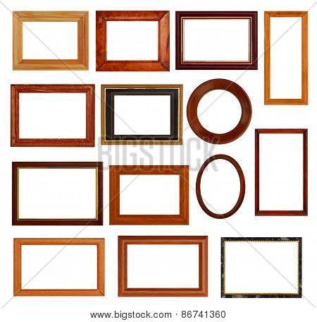 vintage frames set, vector