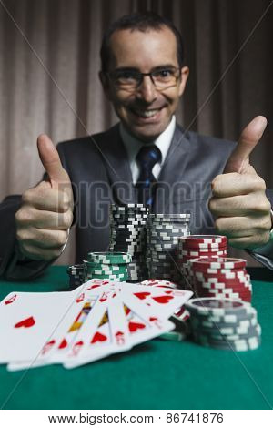 Poker Winner, Businessman Won In Poker Game