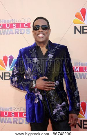 LOS ANGELES - MAR 29:  Charlie Wilson at the 2015 iHeartRadio Music Awards  at the Shrine Auditorium on March 29, 2015 in Los Angeles, CA