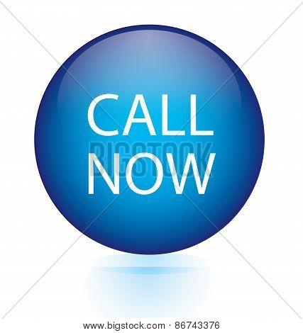 Call now blue circular button