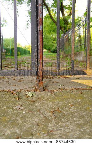 Hasp In A Gate