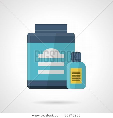 Flat color style vector icon for sport supplements