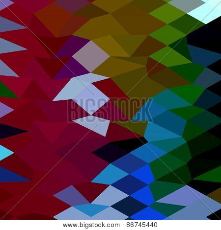 Maroon Abstract Low Polygon Background