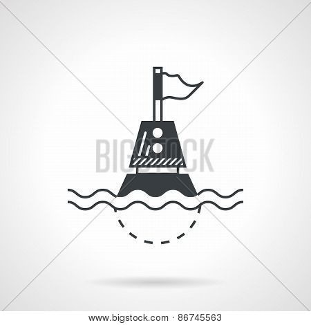 Black vector icon for floating buoy
