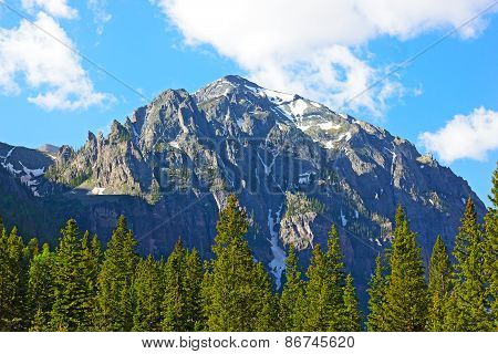 Mountains and forests in Telluride Colorado USA.