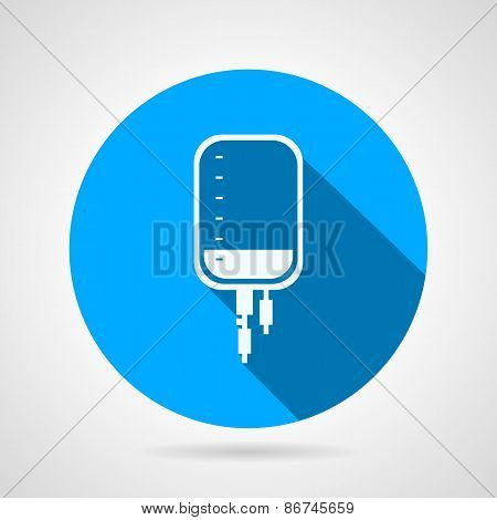 Flat round vector icon for medical dropper