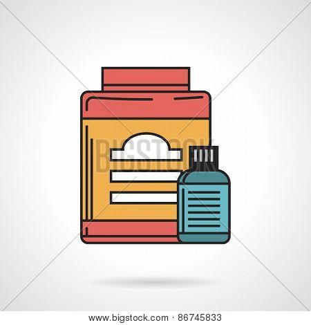 Flat vector icon for sport supplements jars