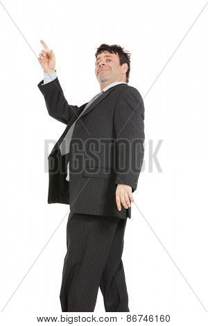 portrait of man with suit, isolated over white background