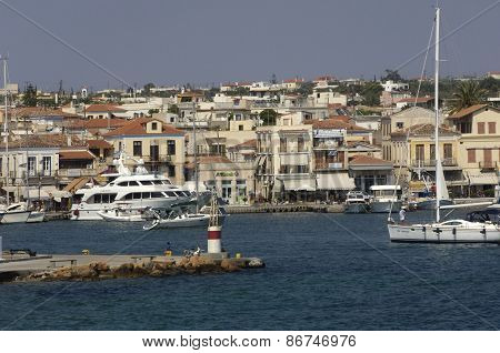 City Of Egine In Saronic Gulf