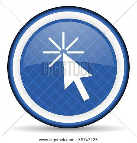 click here blue icon