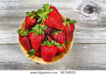 Fresh Ripe Strawberries Ready To Eat