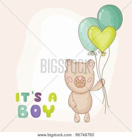 Cute Baby Shower or Arrival Card - in vector
