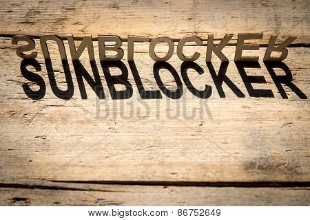 Wooden Letters Build The Word Sunblocker