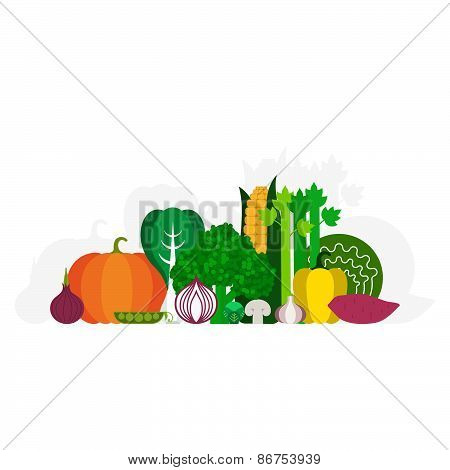 Fresh Vegetables Concept