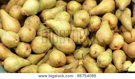 Fresh Pears at the Market Background