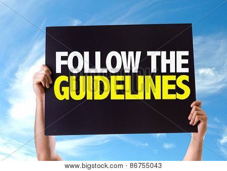 Follow the Guidelines card with sky background
