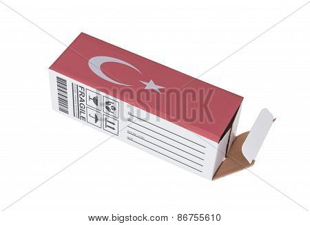 Concept Of Export - Product Of Turkey